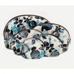 Set of 5 piece rose flower design make-up bag Purse,...