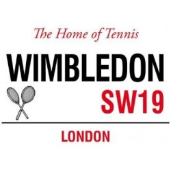 Wimbledon the Home of Tennis SW19 London Street Sign