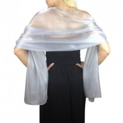 Scarf - Light Silver Grey Large Organza ball wrap Shawl Stole Evening Scarf Dinner Dance