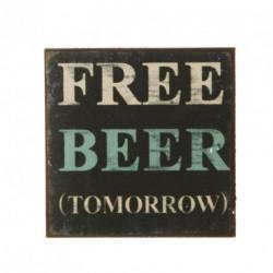 Free Beer Fridge Magnet Size: 5x5cm