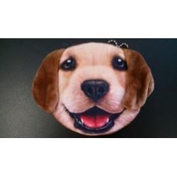 Kids Purse - Children Girls Mini Pet Coin Purse Cute Brown Beagle Labrador Puppy Dog Purse