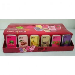 Saffron Fruity Lip Balm Slider Tin Party Stocking Filler Six Flavours Available