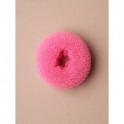 Bun Shaper Donut - Small size bright pink bun former. Size : 65mm.