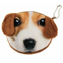 Kinder-Geldbeutel - Kinder Mädchen Handtasche mini pet Münzfach hübsch braun Beagle-Labrador-Welpen Hund
