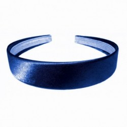 Headband - Navy Blue Shiny Satin 2.5cm School Girls Ladies Headband Hair band