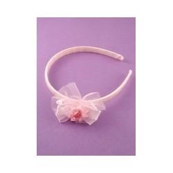 Aliceband - Childs Pink Ribbon and Rosebud motif Alice band