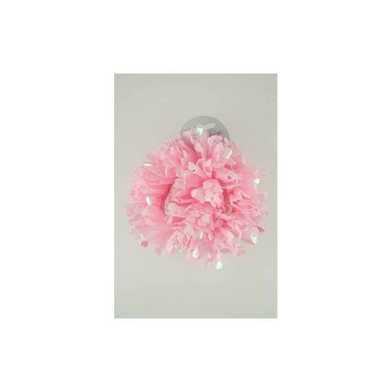 Pack of 2 Pink Heart Scrunchies.
