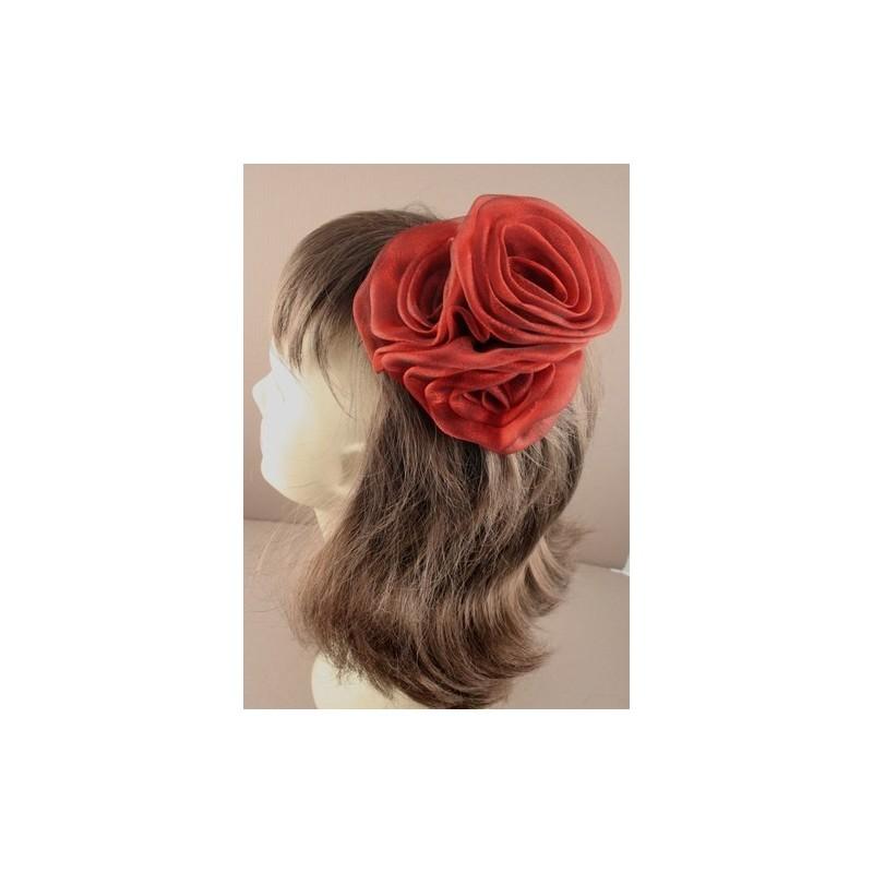 pince à cheveux bec & Broche - déclaration mousseline rose glisser pince à cheveux