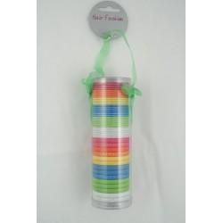 elásticos de cabelo - pacote de presente de 45 neon elásticos de cabelo colorido