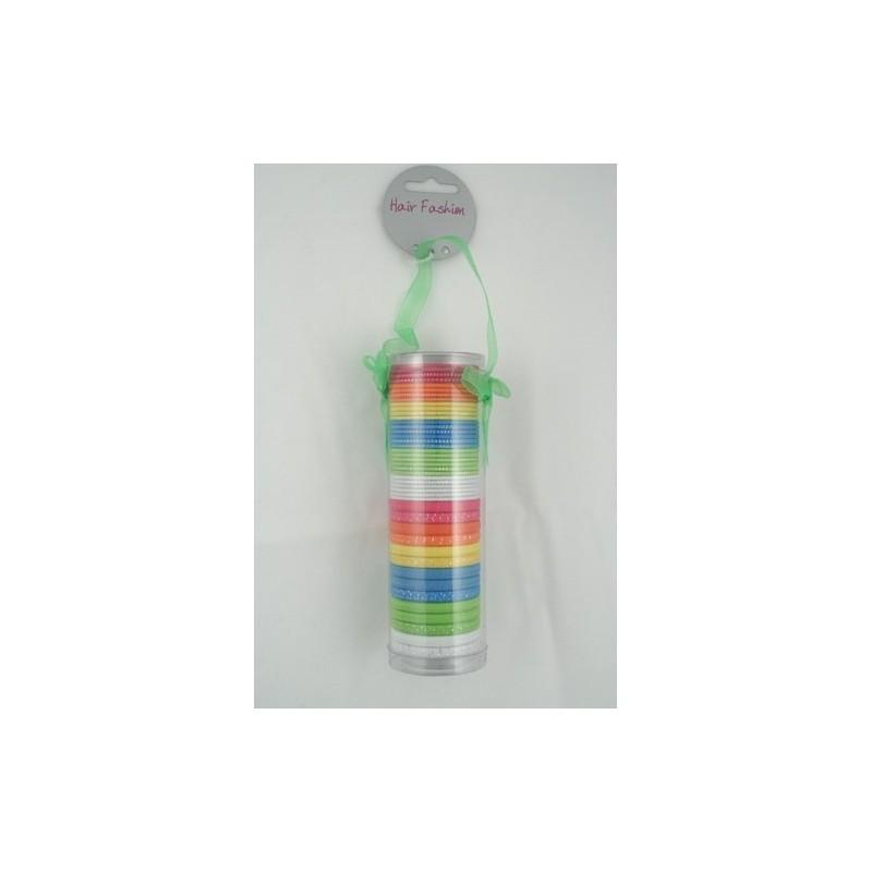 hårelastikker - gave pack af 45 neon farvede hårelastikker