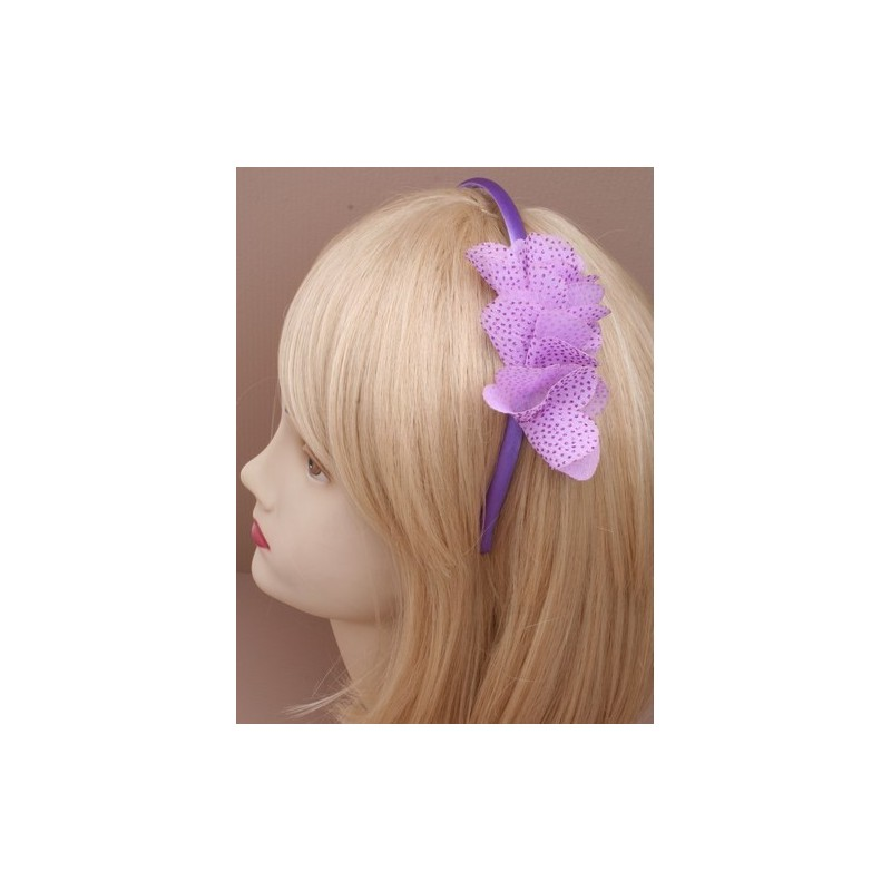 Aliceband - Glittery Side Ruffle headband Alice band