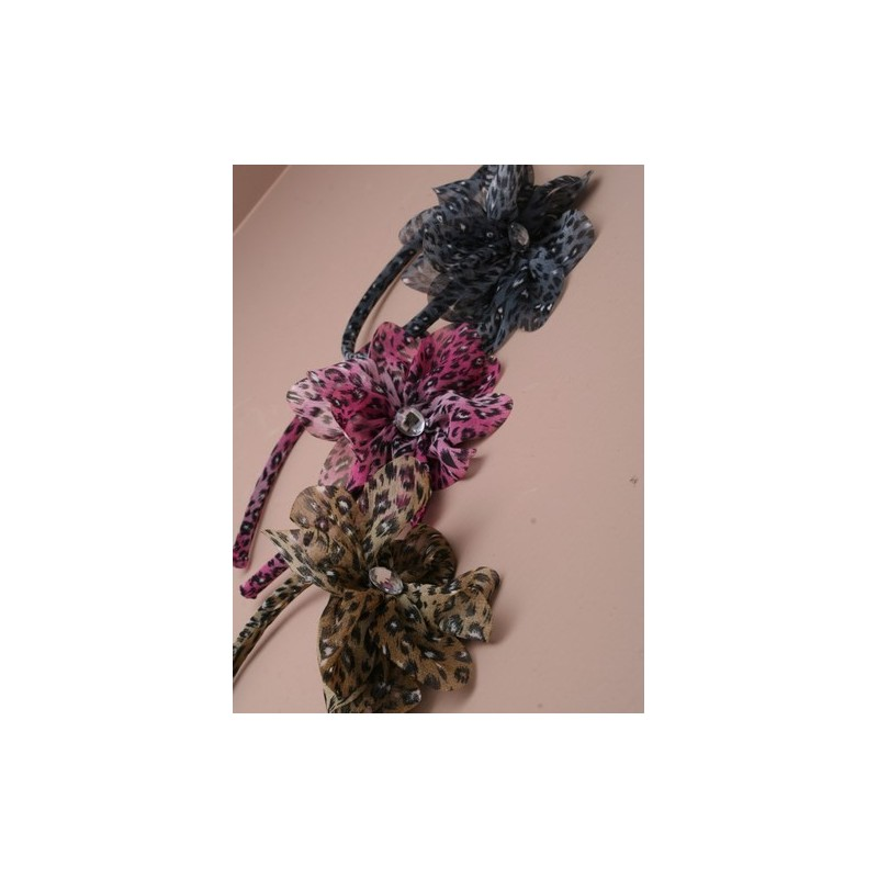 Aliceband - Animal print flower ruffle headband alice band
