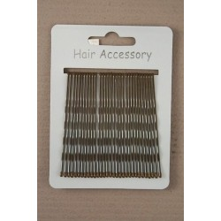Kirby Hair Grips - 30 Brown 65mm Hair Grip wavy hairpin slides
