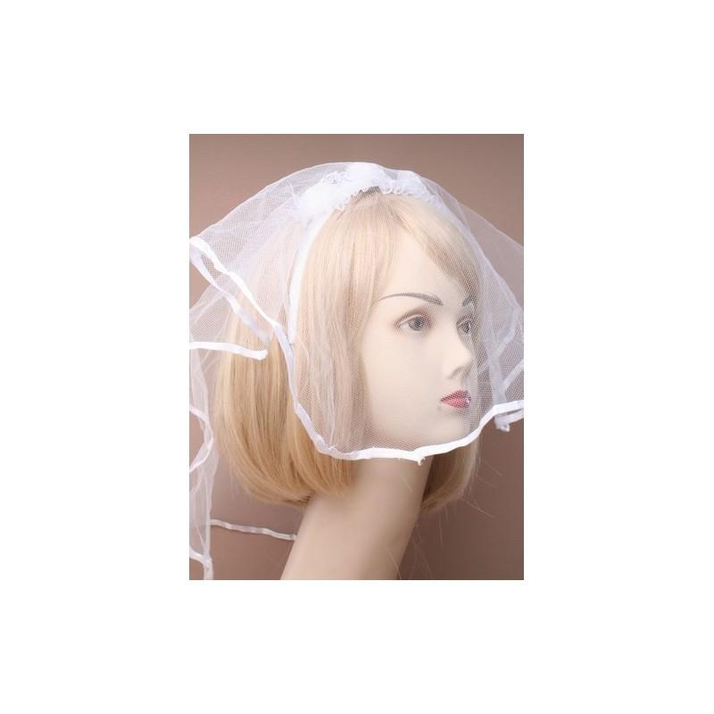 Bridal headdress with net veil