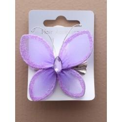 clipe de bico cabelo - borboleta brilho net deslize aderência cabelo