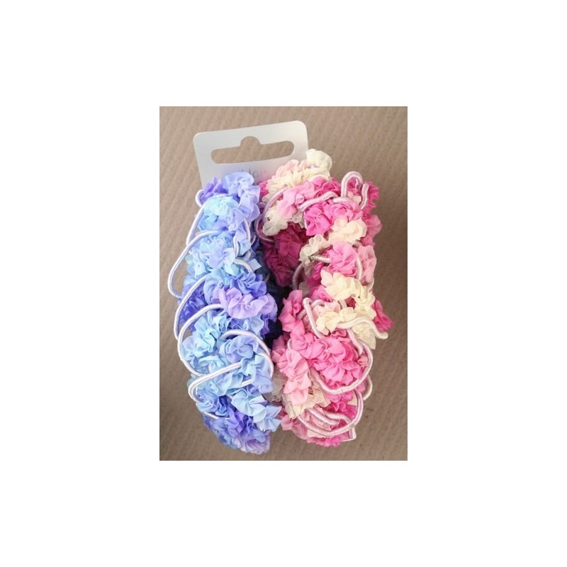 cordón y crinkle scrunchie (par)