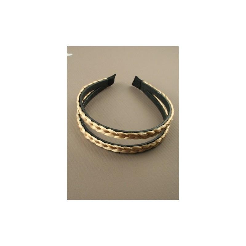 Aliceband - Faux hair plait twin row headband alice band