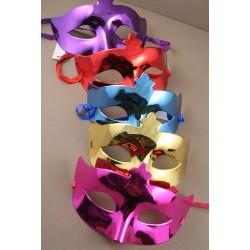 masque - masque métallique brillante face à mascarade