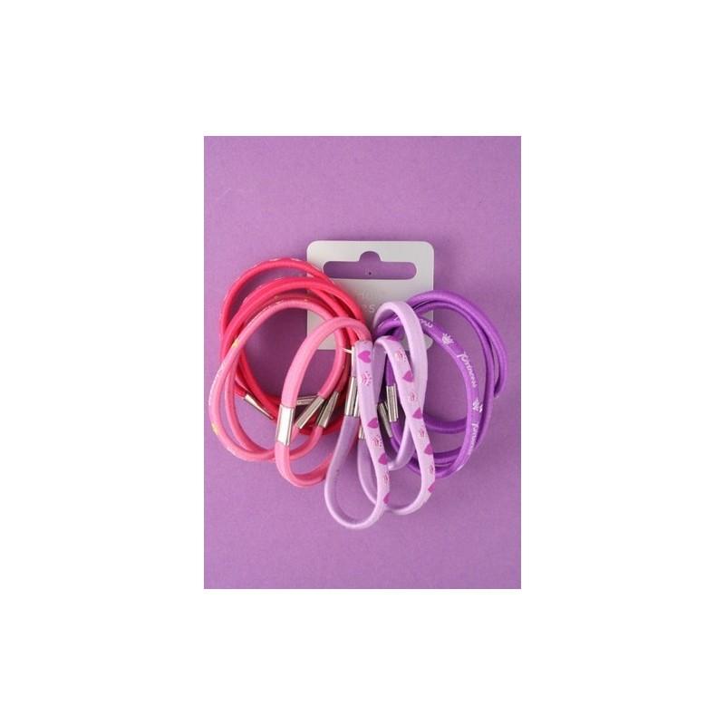 tarjeta de 12 gomas de color rosa y lila impresa.