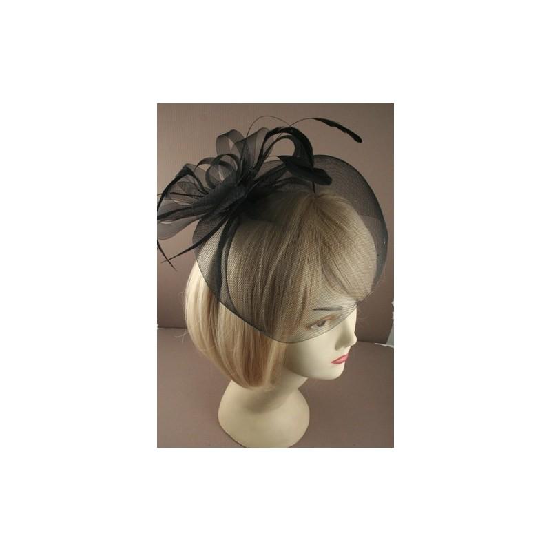 fascinator aliceband - negro modestia neto con plumas de color de rosa, o bucle fascinator banda alice