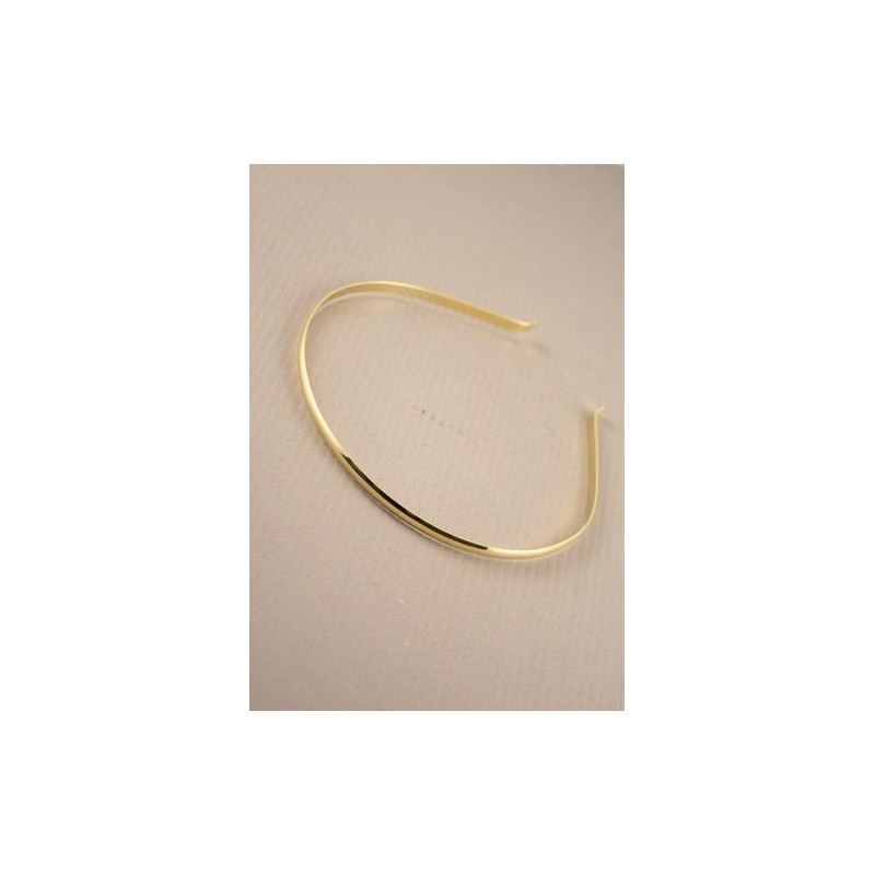 Plain Tiara D section Band Base In Gilt. ( Ideal for making your ow...