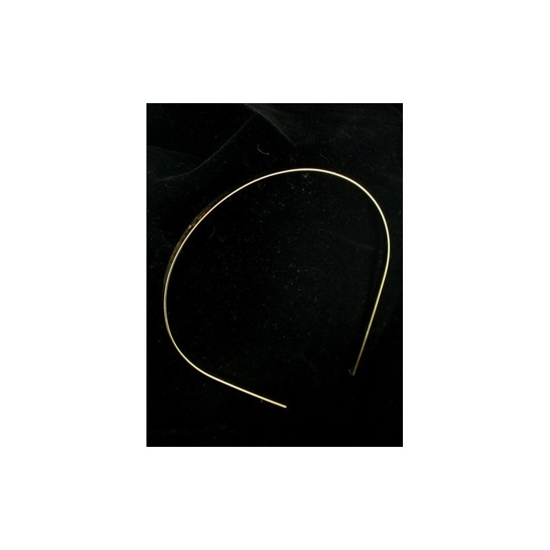Plain Tiara Band Base In Gilt. ( Ideal for making your own Tiaras)