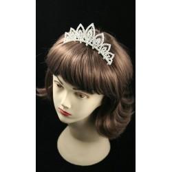 12cm Silv Pointed Loop Crystal Tiara Comb. This item...