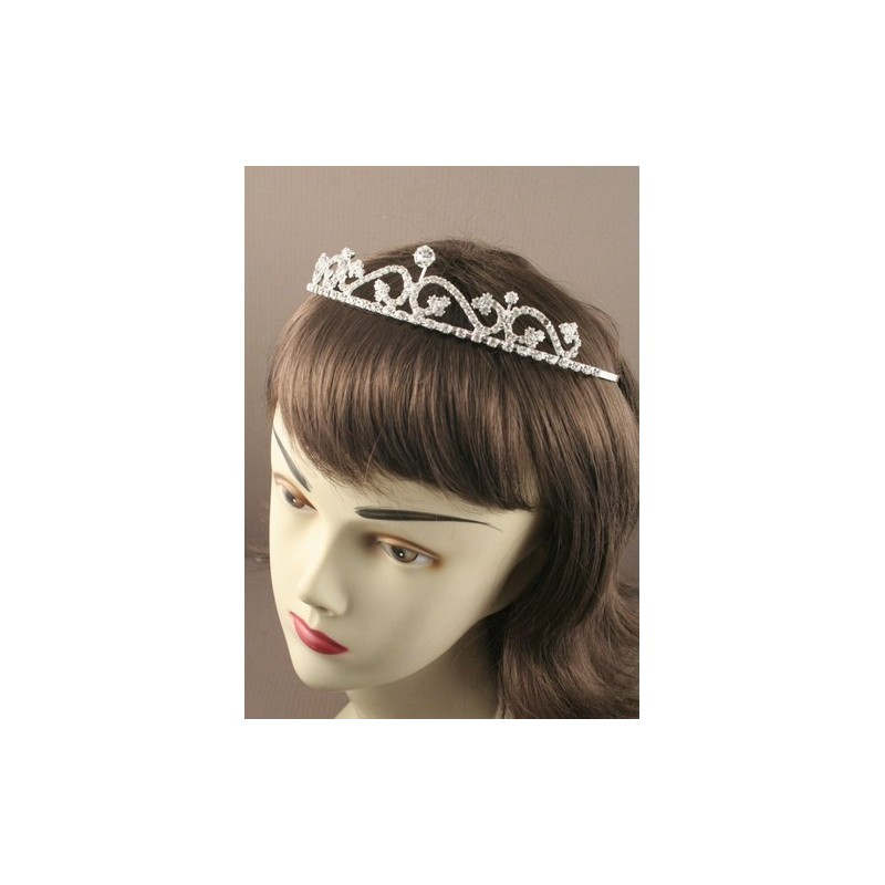 14cm Silv Wave Crystal Tiara. This item comes packed in a Cream gif...