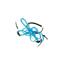 Fascinator Headband Hair Band - Looped ribbon & feather fascinator headband hair band alice band