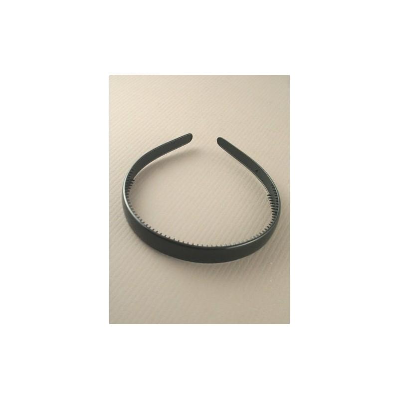 aliceband - amplia llanura negro (1,5 cm) banda alice banda