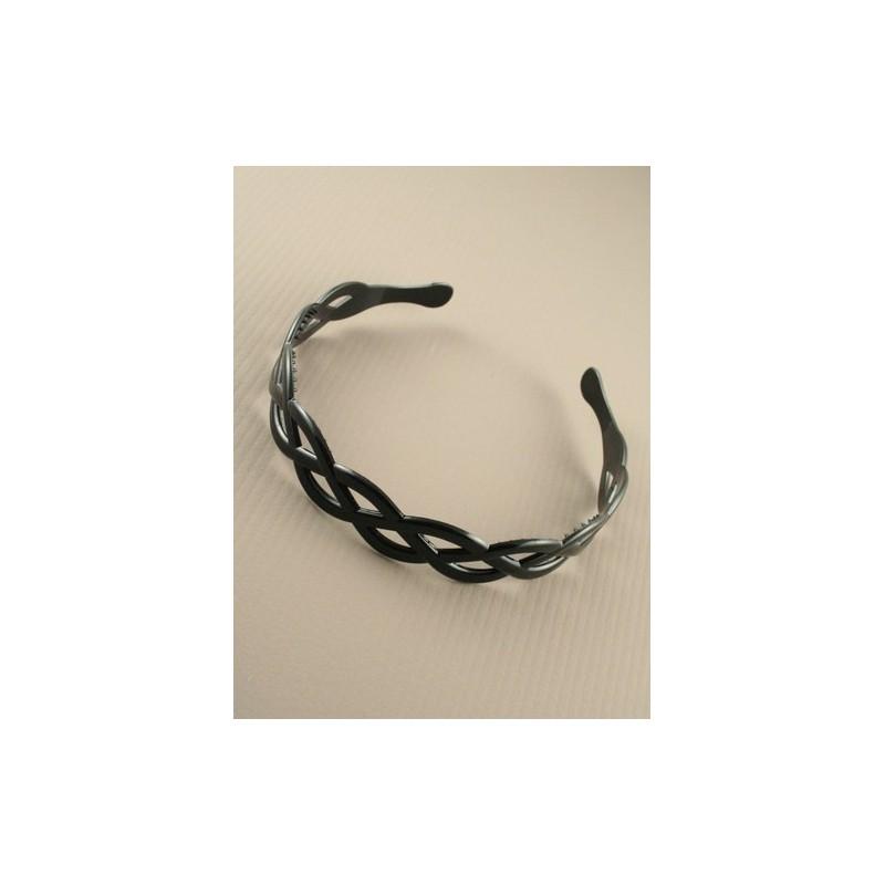 aliceband - tejido tipo de plástico negro tejer banda alice banda