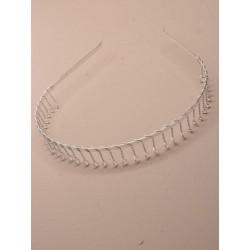Aliceband - Silv metal twisted wire comb headband alice band