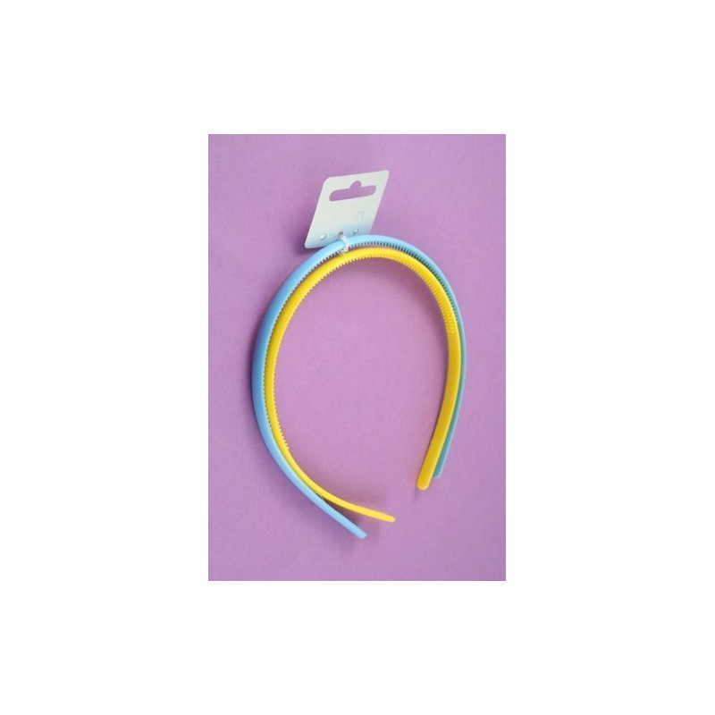 aliceband - paquete doble - de colores brillantes bandas de plástico dentado alice