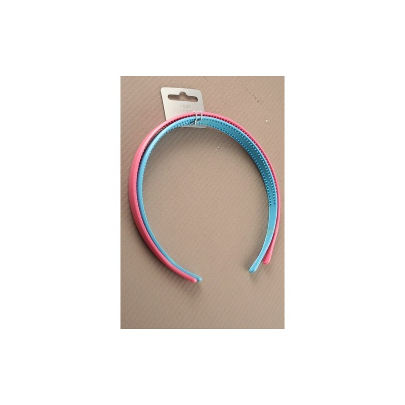 Aliceband - Twin Pack - Pastel coloured 1.5cm wide headband alice bands