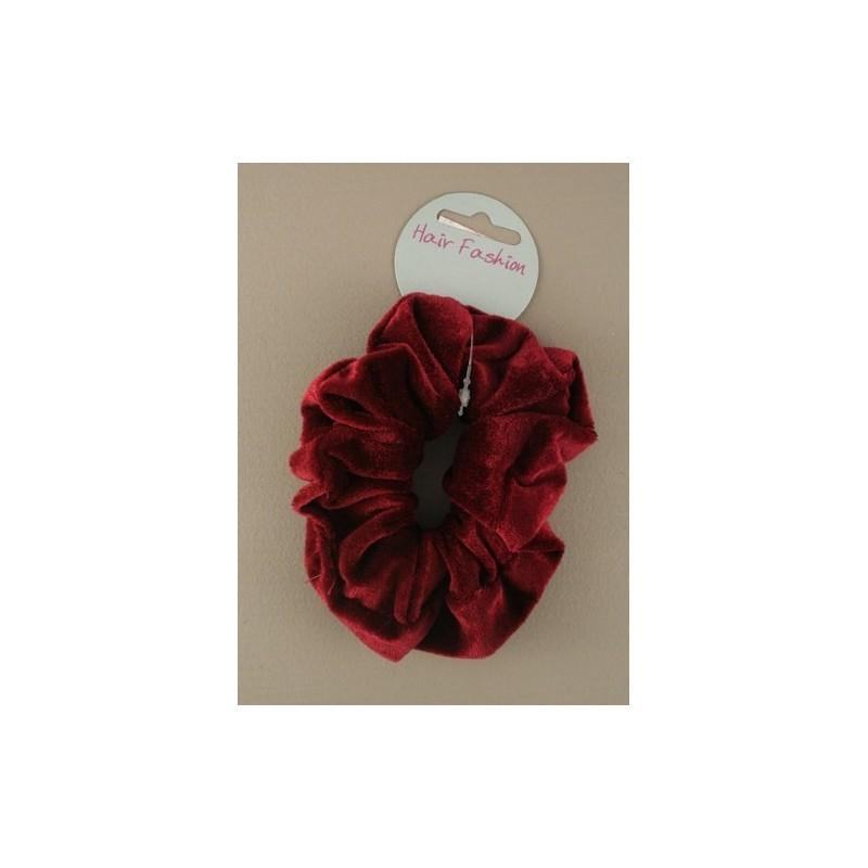 Velvet scrunchie.burgundy