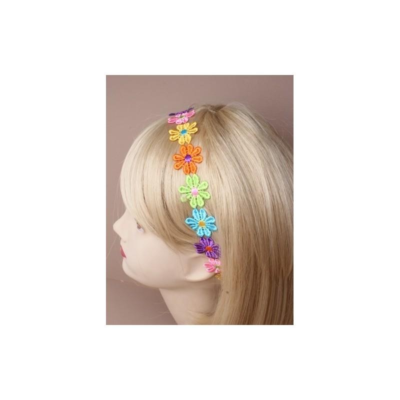 banda para la cabeza - de colores brillantes en cadena de la banda de la cabeza negro estiramiento elástico