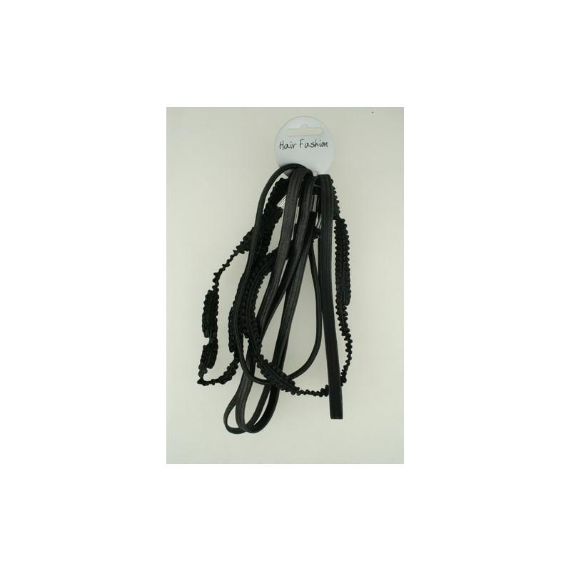 Stirnband - Six Pack - große dünnen schwarzen Gummibändern kylie Band Stirnbänder