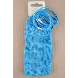 Headband & Elastics set - 6 elastics + colourful stretch fabric head band