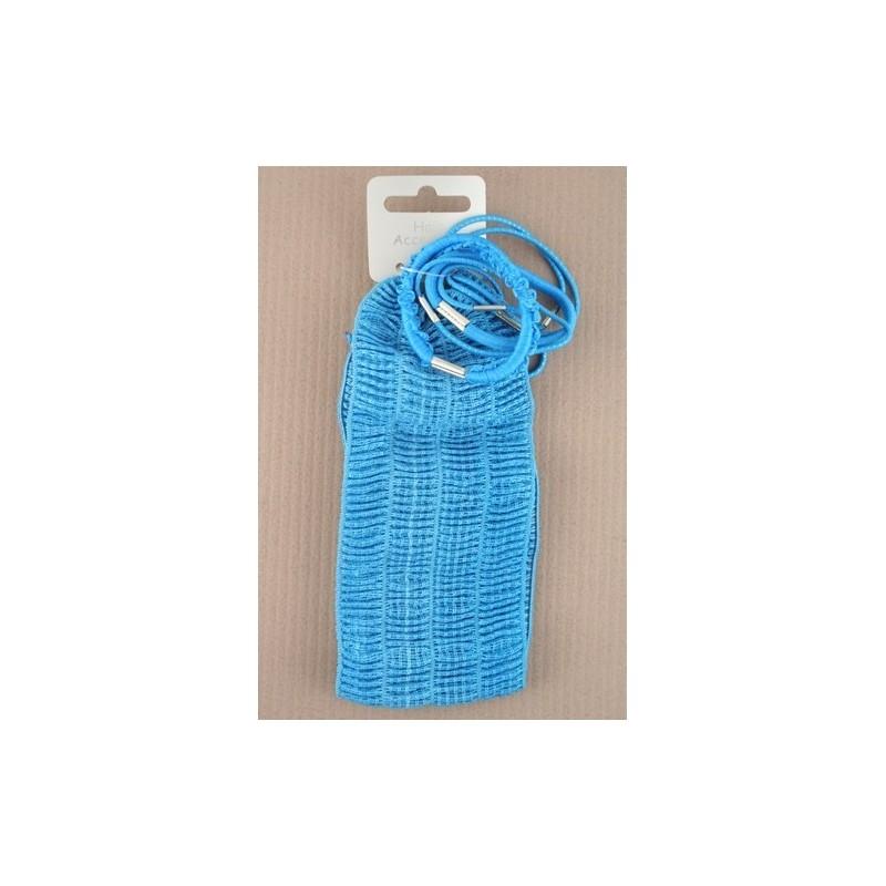 hovedbøjle & elastikker sæt - 6 elastikker farverige stretch pandebåndet