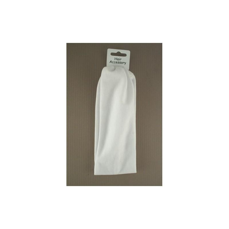 pandebånd - hvid 22 x 7 cm ca størrelse stretch Kylie band pandebåndet