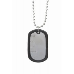 Dog Tags - Pendant chain with black rubber edge