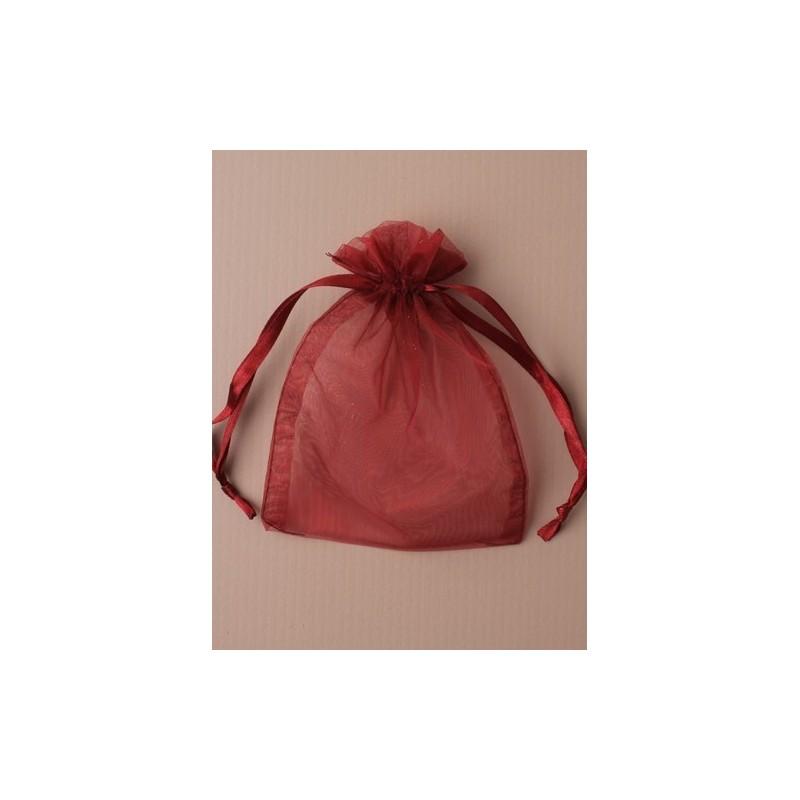 Organza gift bag - in crimson approx 11x15cm