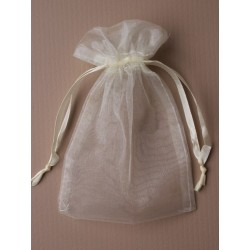 Organza gift bag - ivory - 11X15cm
