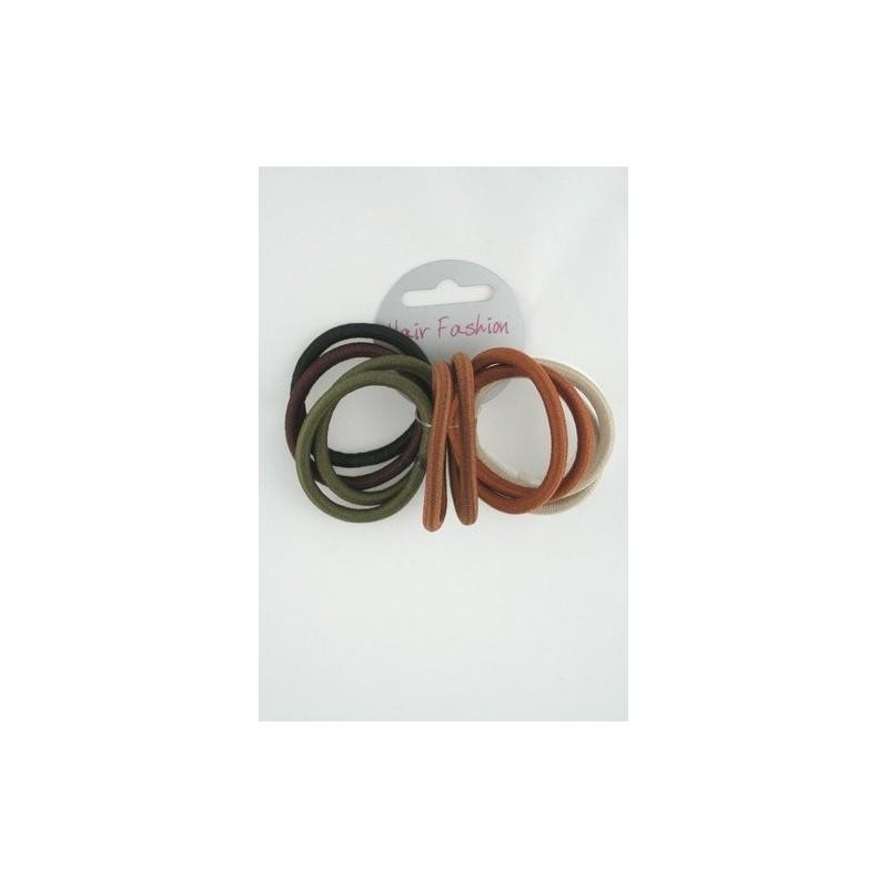 card of 12 natural coloured endless elastics.