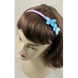 Aliceband - Acrylic butterfly motif plastic headband...