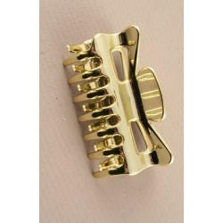 Hair Clamp - 9cm shiny silver or gold plastic hair claw clamp