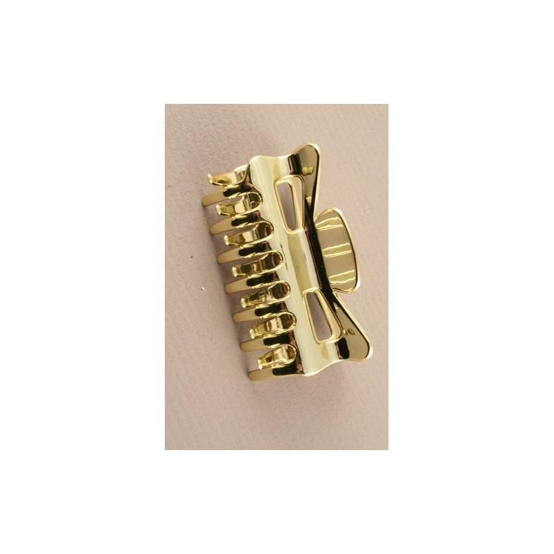 9cm shiny plastic clamp. In silv or gold colour.