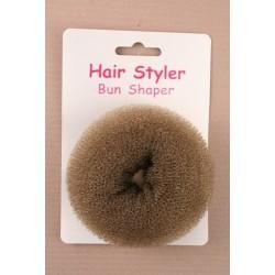 Hair bun shaper - Brown Bun Former Doughnut sponge