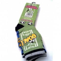 Socks - Football champions colourful cotton rich 3pk...