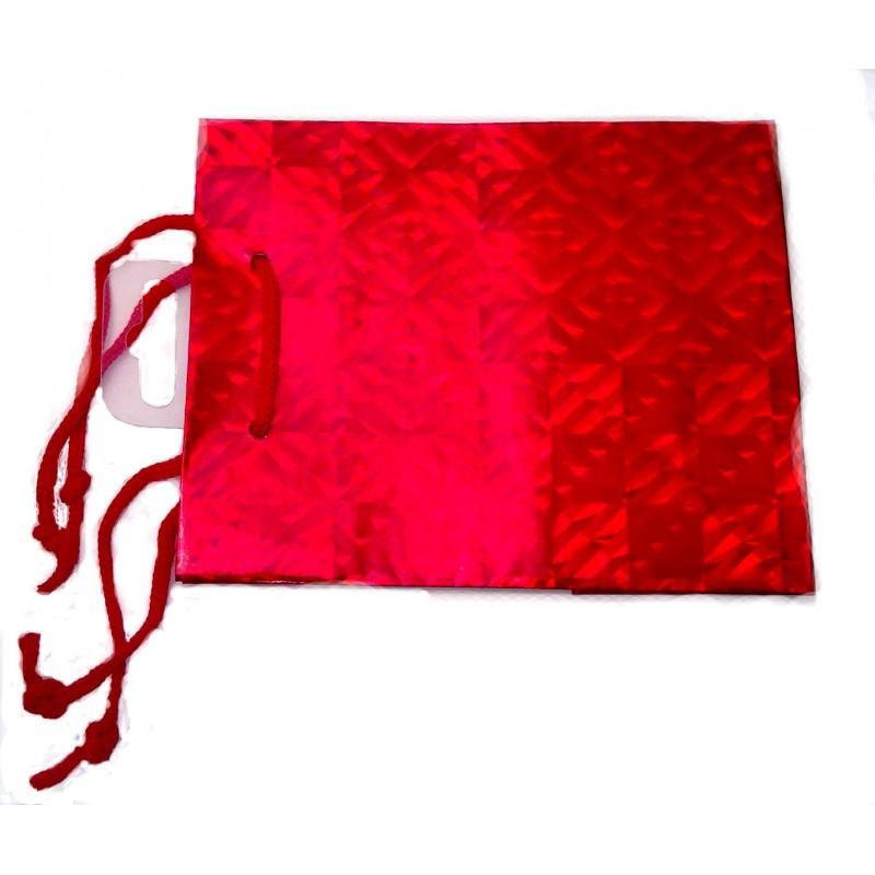 holograma rojo bolsa de regalo